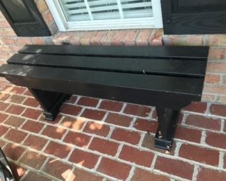 Black Wood Bench $ 46.00