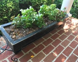 Wood Planter Box (with plants) $ 44.00