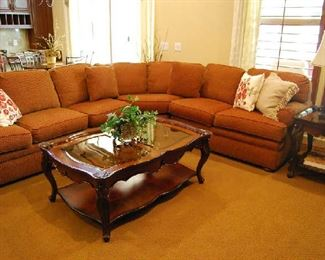Sectional Sofa, End and Coffee Tables, Decor