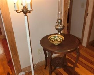Floor Lamp, and unusual side table