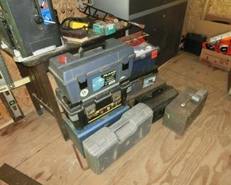 8 Toolboxes full of old Hand Tools