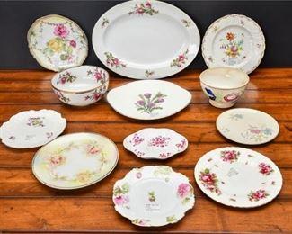 5. Lot Twelve 12 Porcelain  China Decorator Plates