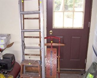 LADDERS AND OLD SLED