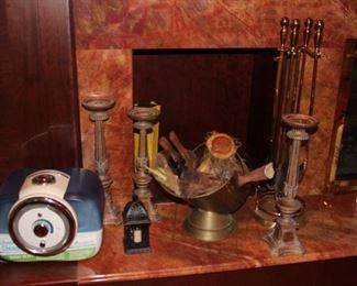 Fireplace Utensils, Candlesticks and more