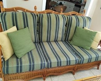 Beautiful rattan sofa