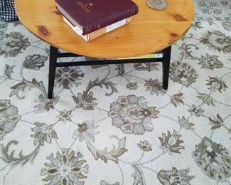 Rug and vintage coffee table