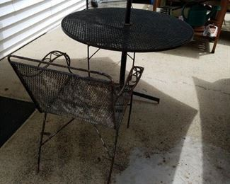 Vintage iron table and two chairs