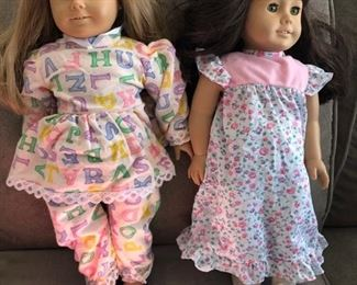 American Girl dolls and clothing......