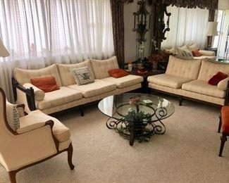 Vintage French Provincial living room furniture