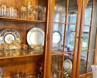 Ethan Allen china cabinet part of set