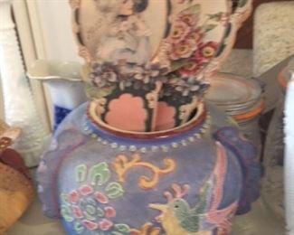 Antique Vase and Fans
