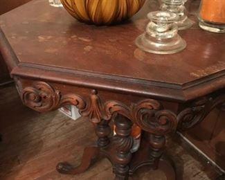 Side Table & Decor