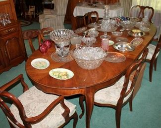 #1 - Kindel French Provincial Dining Table & 6 Chairs