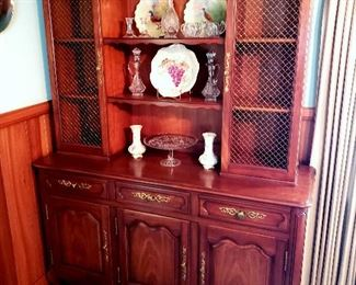#2 - Kindel French Provincial China Hutch