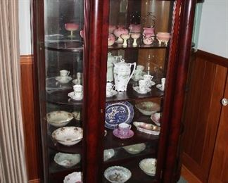 #4 - Antique Curved Glass Claw Foot China Cabinet