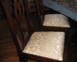 2 of 8 dining chairs with dining table