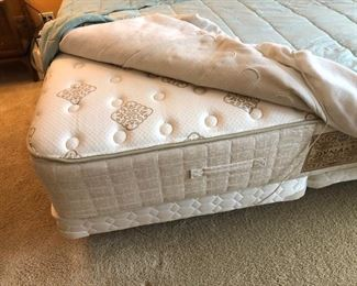 Stearns & Foster king mattress and split box spring
