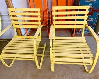 Vintage Metal Camp Chairs