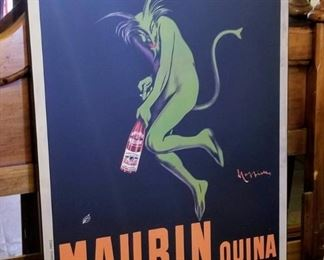 Maurin Quina Le Puy France Vintage French Green Devil wall hanging