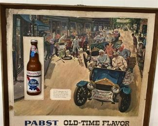 Antique Pabst Blue Ribbon Advertising