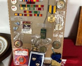 Military Pins & Medals Lot