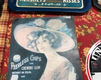 Vintage Sign & Tray