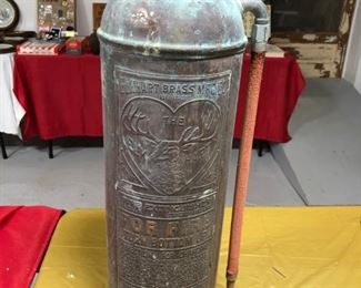 VINTAGE ELKHART BRASS MFG. CO. 2 1/2 GAL. FIRE EXTINGUISHER(COPPER & BRASS)