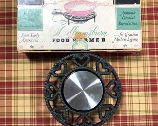 Antique Williamsburg Electric Food Warmer