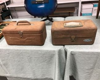 Antique Metal Tackle Boxes