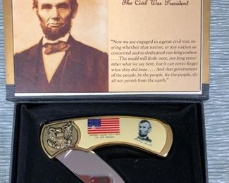 Abe Lincoln Collectors Knife