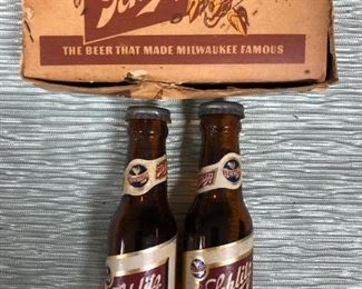 Schlitz Salt Pepper Shakers