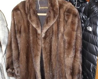 fur coat mink mid length size 8-10 $200