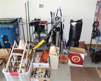 garage filled with items