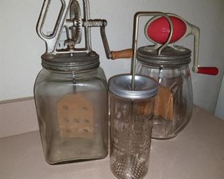 Antique Dandy, Dazey and Wesson Oil churns and whipper