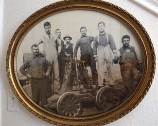 Antique Photo of Men Working on the Railroad