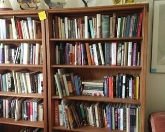 book cases and 2nd floor books