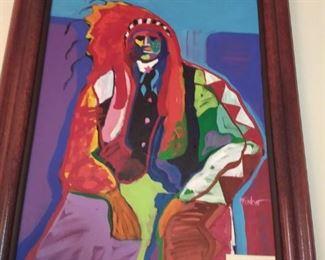 Malcolm Furlow original oil Quanah Parker OR American Chief