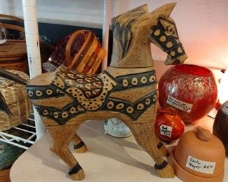 Native American carved horse