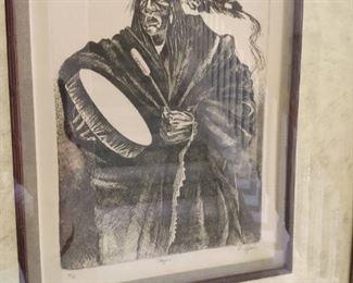 Native American print unknown artist