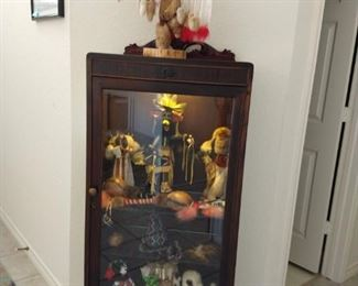 small lighted display cabinet