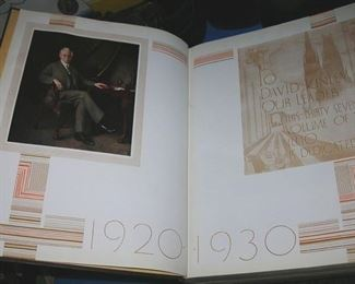 Yearbooks from University of Illinois and Riverside/Brookfield High School from the 20s & 30s.