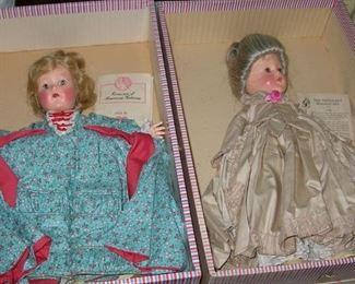 "RARE Effanbee ""Romance of American Fashions"" dolls in box"