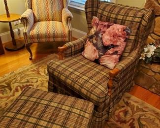 Plad  chair and ottoman