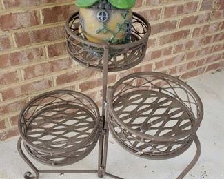 Metal patio plant stands