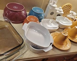 Cook pots and Corning ware