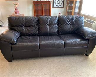 Modern Kroehler Bonded Leather Sleeper Sofa