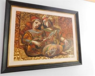 Painting by Oleg Zhivetin Entitled: Serenade, Handsigned  Serigraph print