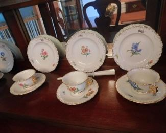 Miessen Porcelain plates cups and saucers