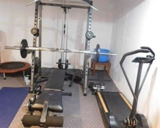 Weights  press rack Home Gym