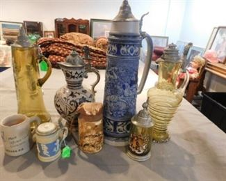 Antique and vintage steins